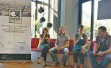 SprecherInnen & Moderator bei Science&People #2: Citizen Science - Open Science for citizens. v.l.n.r. Dr. Julia Schnetzer, Dr. Arndt Pechstein, Dr. Lisa Pettibone und André Lampe